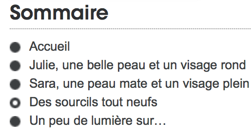 "Madame Figaro ""Sommaire"""