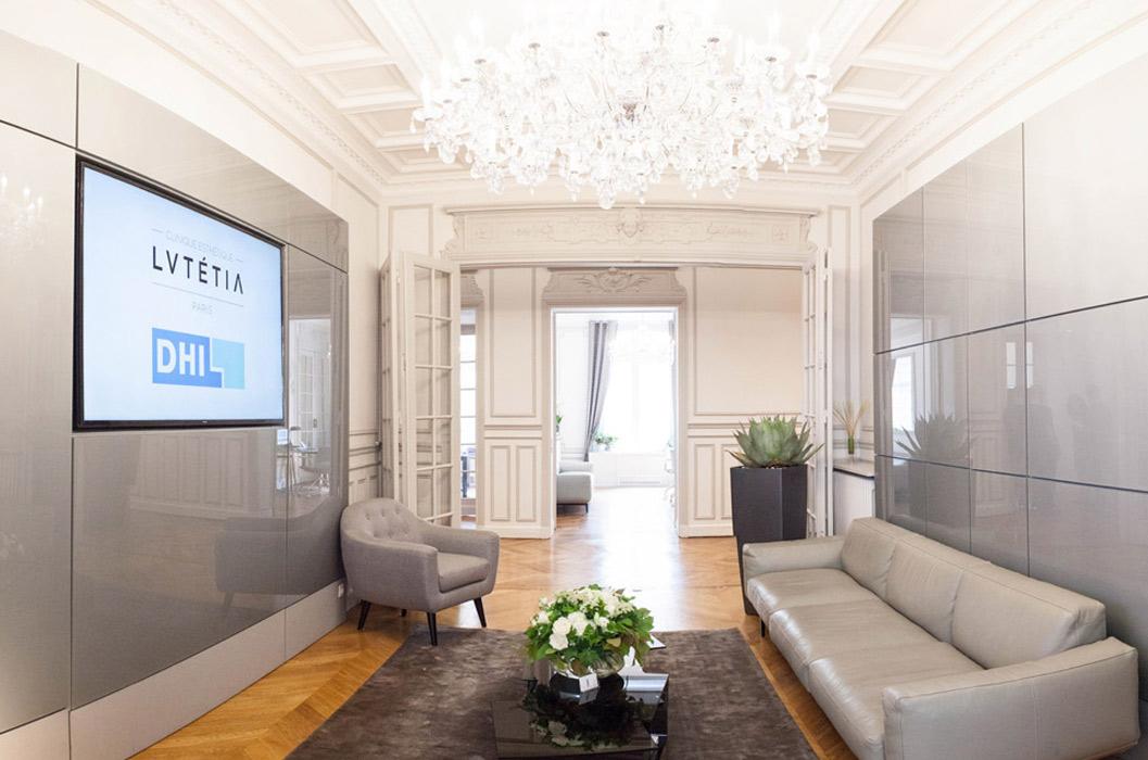 la salle d'attente de la Clinique DHI à Paris