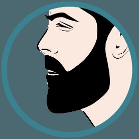 Représentation d'une greffe de barbe