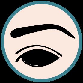 Illustration de la greffe de sourcil