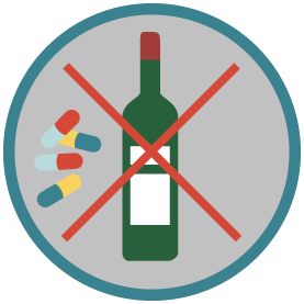 icone interdiction alcool medicaments