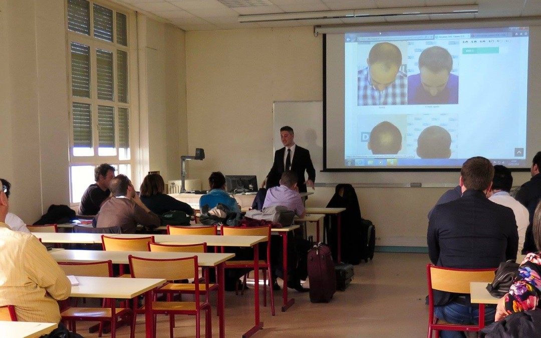 Le cours sur le traitement de la calvitie à l'université Claude Bernard